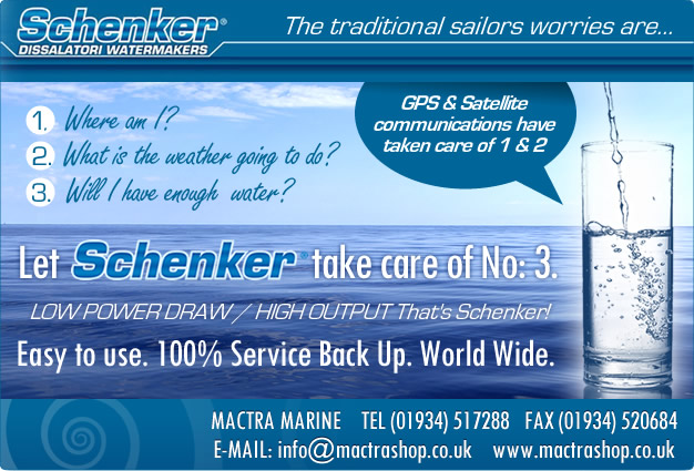 Schenker Watermakers The traditional sailors worries are ...