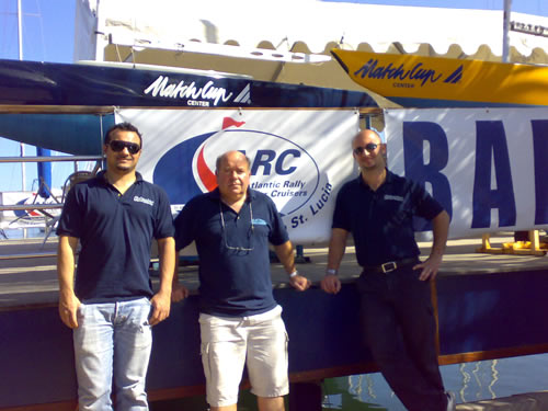 The Start of the ARC 2007. Left and Right: Schenker engineers  Francesco and Pepe. Centre: Jim Macdonald.
