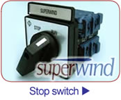 Superwind Wind Generators Stop-switch