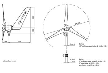 Superwind Wind Generator Diagram